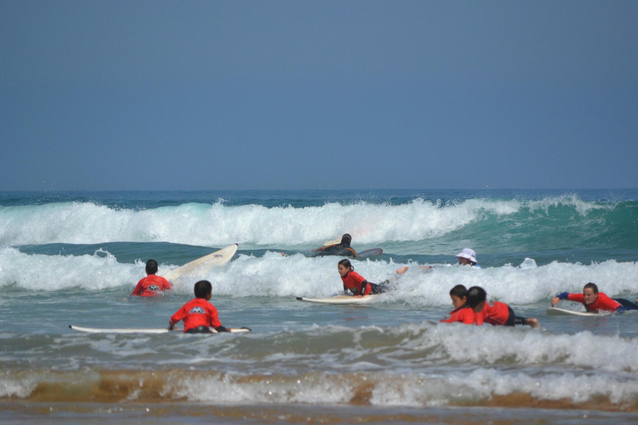 Actividades como el surf